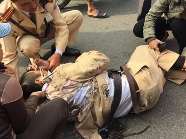 CSGT Huế bị xe máy tông đã tử vong
