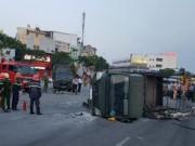 Tin tức trong ngày - Xe chở cảnh sát gặp nạn, 2 chiến sĩ trọng thương