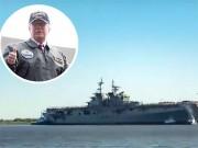 """Thế giới - Video: Mỹ hạ thủy siêu tàu đổ bộ """"khủng"""" nhất thế giới"""