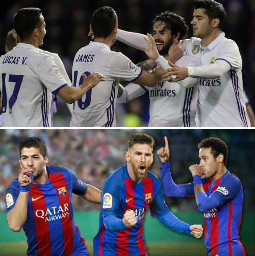 """Đua Liga: Barca có """"tam tấu"""", Real có cả """"dàn hòa tấu"""""""