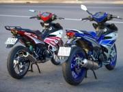 Xe máy - Xe đạp - Ngắm bộ đôi Yamaha Exciter 150 biển tứ quý độ 'ngầu' của biker Việt