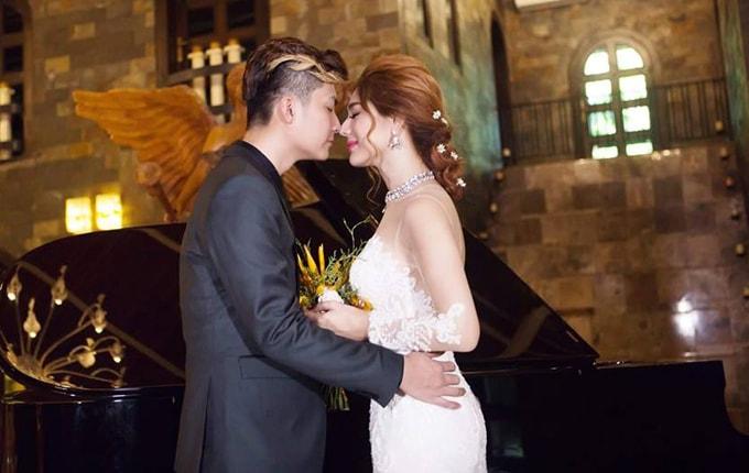 Lâm Khánh Chi mặc áo cưới xuyên thấu nuột nà bên chồng trẻ - 6