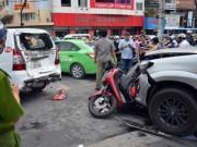 Tin tức trong ngày - 3 ô tô tông liên hoàn giữa SG, kẹp chặt người đi xe SH