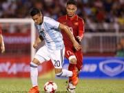 """Bóng đá - U20 Việt Nam bị """"ngợp"""" trước đàn em Messi"""