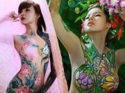 Bạn trẻ - Cuộc sống - Đã mắt với những bức tranh tuyệt đẹp trên cơ thể thiếu nữ Việt