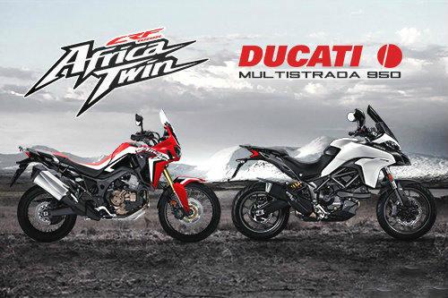 So găng Honda CRF 1000L Africa Twin và Ducati Multistrada 950 - 1