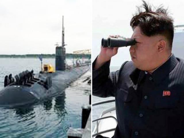 Đội tàu ngầm tấn công hạt nhân Mỹ vây quanh Triều Tiên