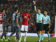 """Bóng đá - Cận cảnh thẻ đỏ ngây thơ của Bailly, MU """"chết hụt"""" phút 90+6"""