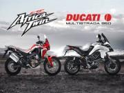 Thế giới xe - So găng Honda CRF 1000L Africa Twin và Ducati Multistrada 950