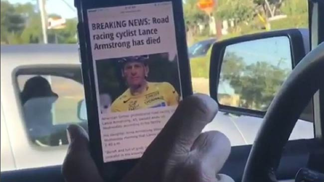 Rúng động vì tin đồn Lance Armstrong qua đời - 1