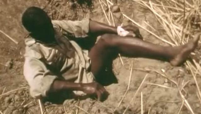 Dùng người làm mồi câu trăn khổng lồ 6 mét ở châu Phi - 1
