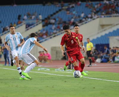 Chi tiết U22 Việt Nam - U20 Argentina: Pha cứu bóng may mắn (KT) - 5