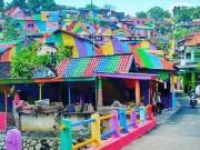 """Du lịch - Ngôi làng 7 màu đang khiến dân """"sống ảo"""" chao đảo ở Indonesia"""