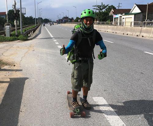 Phượt thủ xuyên Việt bằng ván trượt đặt chân tới xứ Nghệ - 3