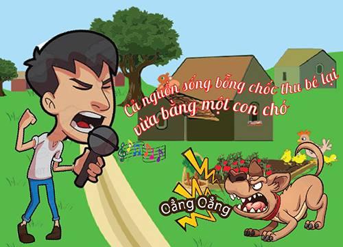 Truyện cười: Tiếng hát át tiếng chó - 1