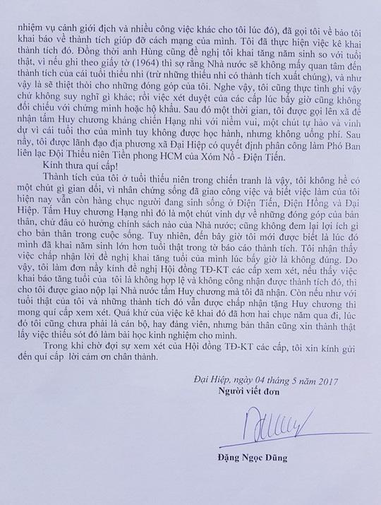 Bí thư có 4 năm sinh xin trả lại huy chương - 3