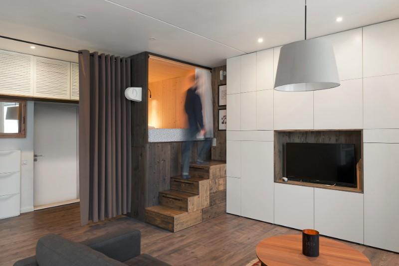 """""""Hộp ngủ"""" sáng tạo cho căn hộ 35m2 rộng khó tin - 1"""