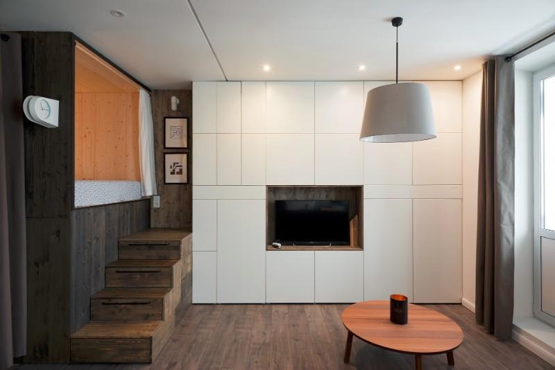 """""""Hộp ngủ"""" sáng tạo cho căn hộ 35m2 rộng khó tin - 3"""