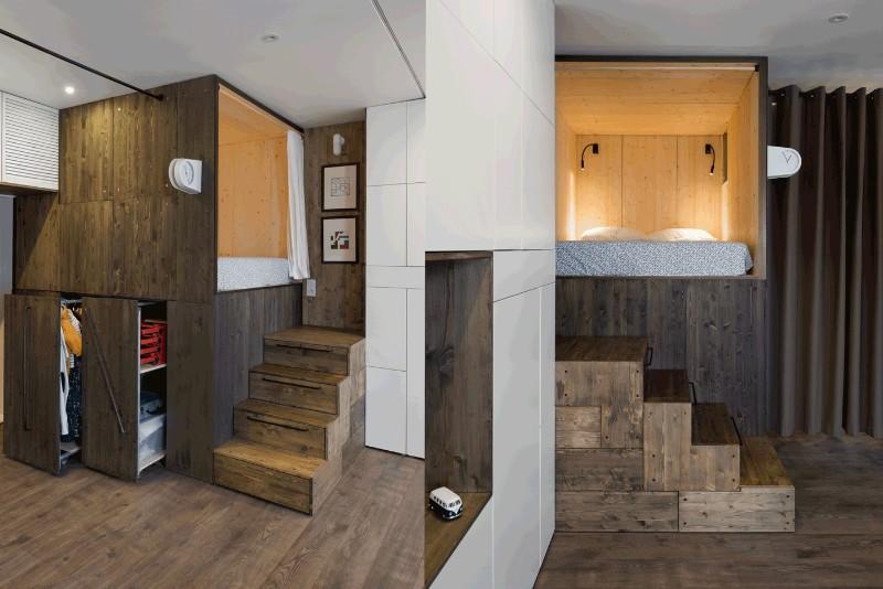 """""""Hộp ngủ"""" sáng tạo cho căn hộ 35m2 rộng khó tin - 5"""