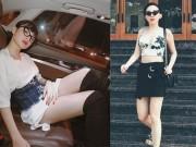 Thời trang - Angela Phương Trinh, Midu diện váy ngắn khoe chân dài thon nuột