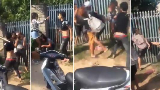 Clip: Cô gái bị 5 thanh niên đánh dã man, gây phẫn nộ cộng đồng mạng