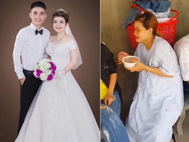 Sốc với clip cô dâu kéo lê chú rể bị xích trong đám cưới - 1