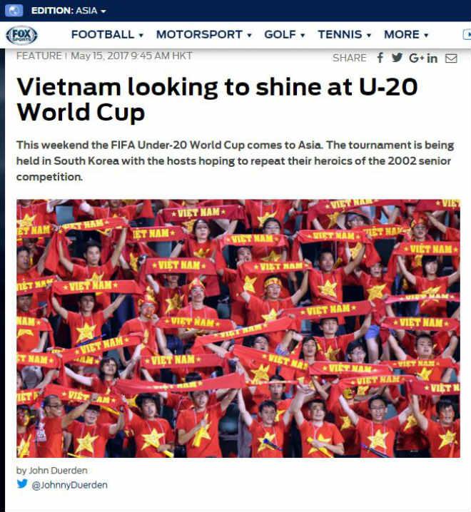 Báo chí châu Á tin U20 Việt Nam sẽ gây sốc ở World Cup - 1