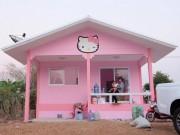 Tài chính - Bất động sản - Bố mẹ của năm: Bỏ trăm triệu xây nhà Kitty hồng rực cho con gái