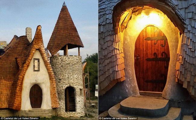 Độc đáo lâu đài khách sạn làm từ đất sét và rơm - 3