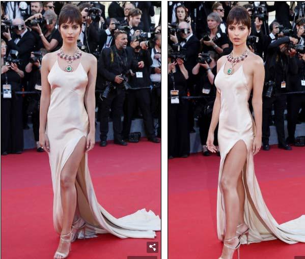 """Hot girl Hollywood nổi """"bần bật"""" tại Cannes vì sự cố váy xẻ sâu - 7"""
