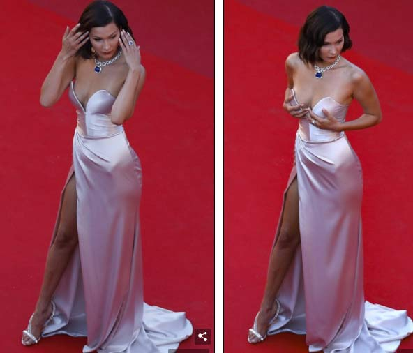 """Hot girl Hollywood nổi """"bần bật"""" tại Cannes vì sự cố váy xẻ sâu - 6"""