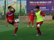 """Bóng đá - U20 Việt Nam: """"Đàn em"""" Công Phượng băng chân tập cực sung"""