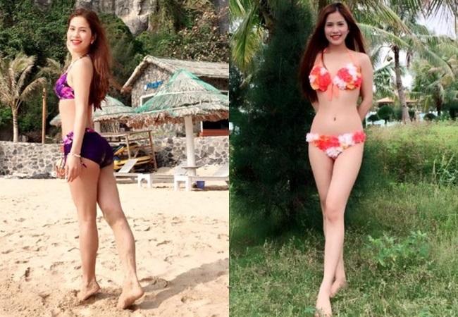Thân hình nóng bỏng của cô vợ sinh năm 1989 của Việt Anh.