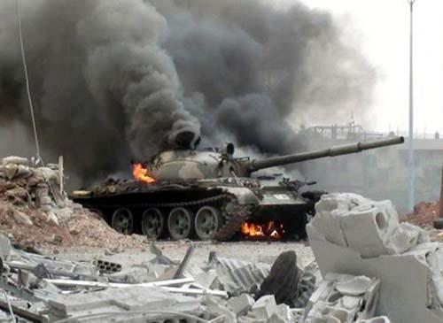Chiến đấu cơ Mỹ bất ngờ dội bom đoàn xe quân đội Syria 2