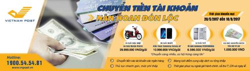 Khuyến mãi Dịch vụ chuyển tiền tài khoản – Hân hoan đón lộc tại Bưu điện VN - 1