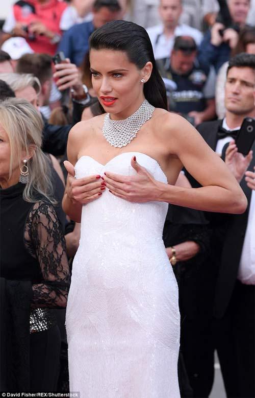 Lại một mỹ nữ khác phải xấu hổ vì váy xẻ cao tại Cannes 7