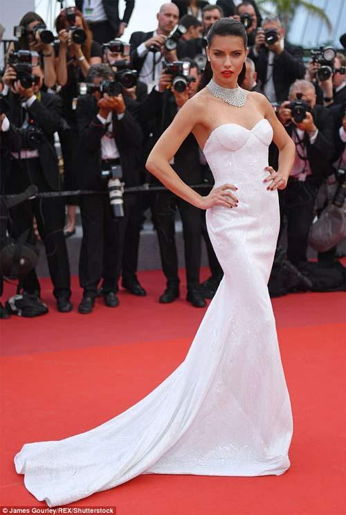 Lại một mỹ nữ khác phải xấu hổ vì váy xẻ cao tại Cannes 6