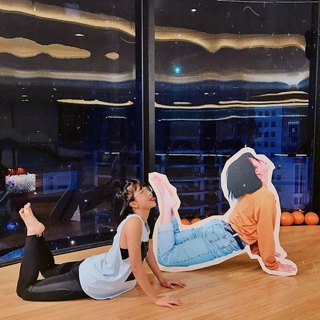 """Quỳnh Anh Shyn khoe vòng eo """"con kiến"""" khi đi tập gym - 8"""