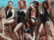 Đời sống Showbiz - Kệ anti-fan, Lâm Khánh Chi khoe ảnh bikini bên dàn chân dài chuyển giới