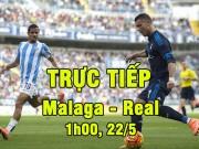 Bóng đá - Chi tiết Malaga - Real Madrid: Thong dong giữ cách biệt (KT)