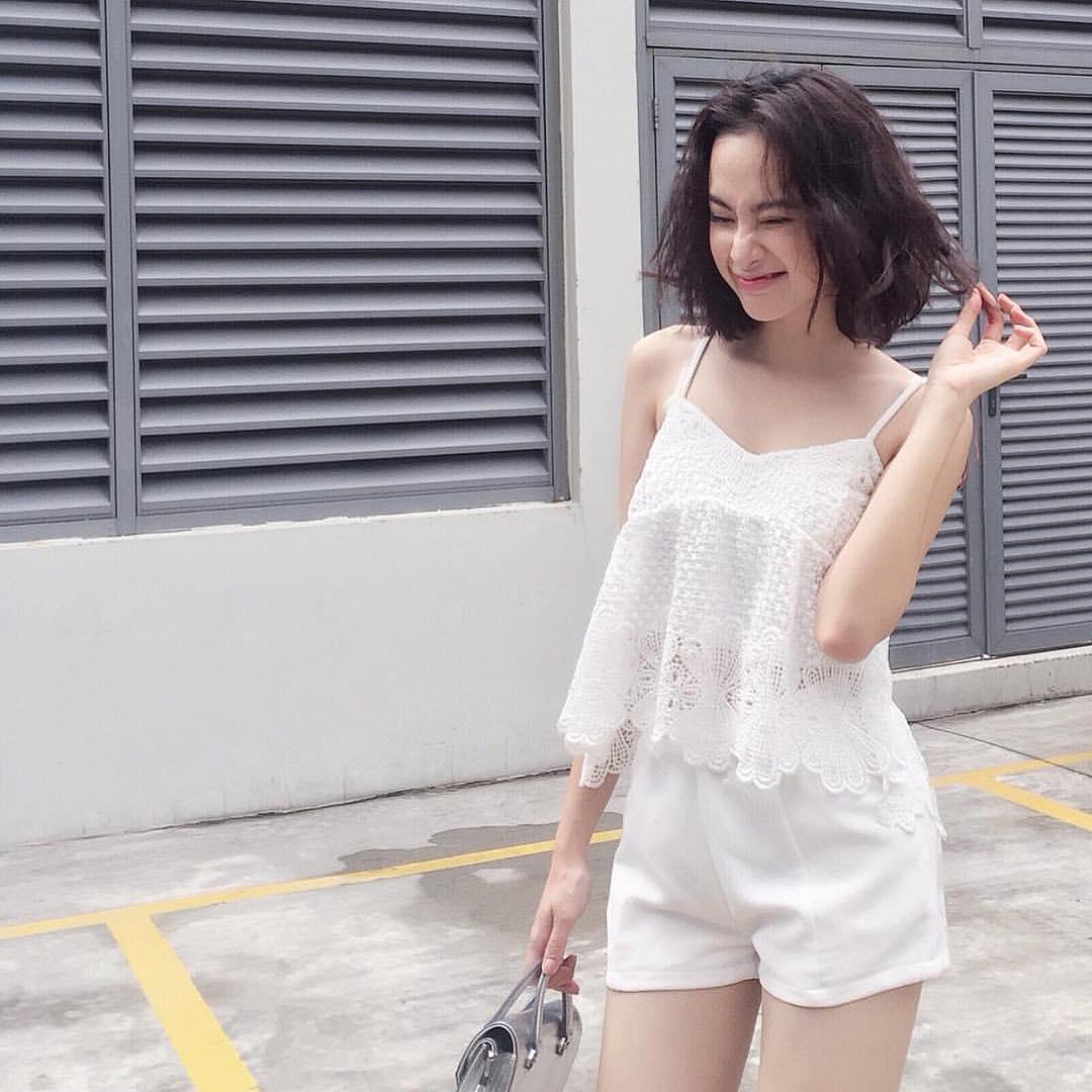 Angela Phương Trinh tự tin dạo phố với váy ngủ cũn cỡn - 6