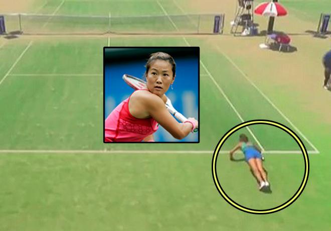"""Trò hề tennis: """"Mỹ nhân kế"""" câu giờ, thua vẫn hoàn thua - 1"""
