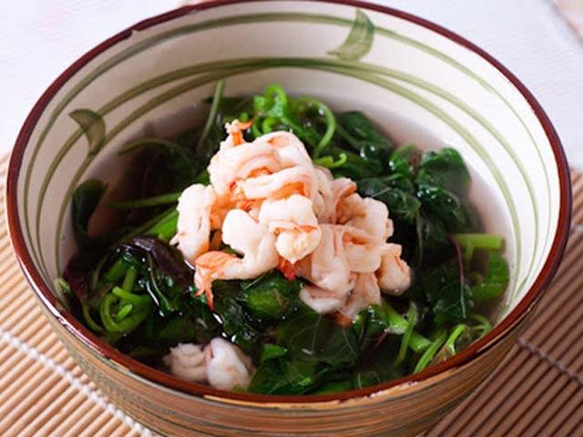 Canh rau dền nấu tôm thanh mát cho bữa trưa hè - 3