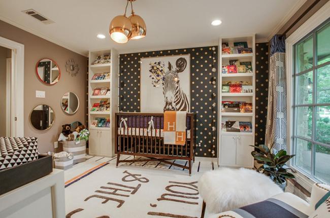 Ai nói màu nâu không thể dùng trong phòng các bé. Bạn có thấy thiết kế này đáng yêu không?