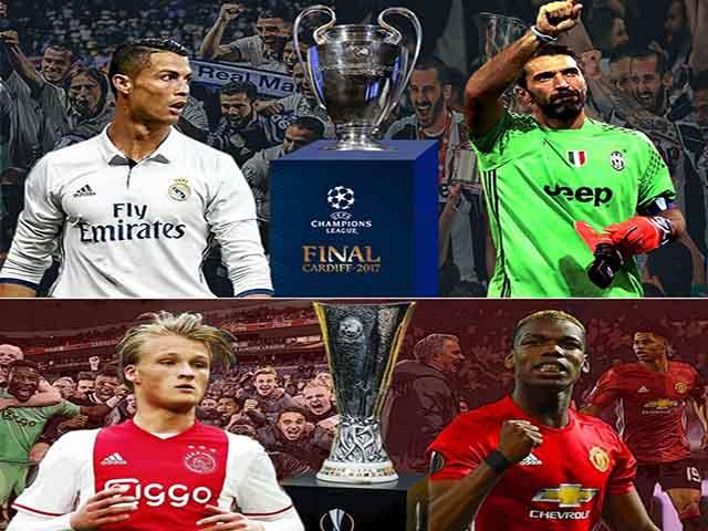 """Real - Juventus, MU - Ajax: Xứng danh """"tứ đại thiên vương"""" (Infographic)"""