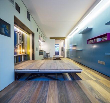 """Giấu nội thất dưới sàn, căn hộ 30m2 trở nên """"thênh thang"""" khó tin - 8"""