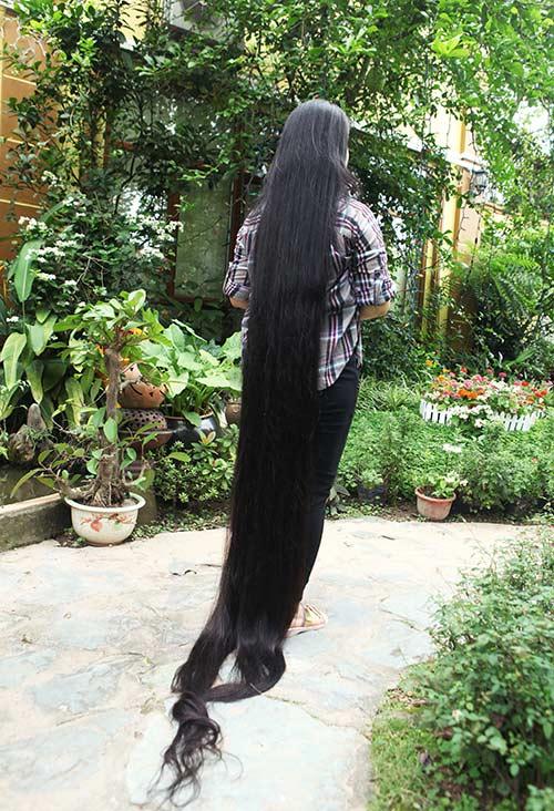 Chiêm ngưỡng mái tóc dài nhất Việt Nam, tỏa hương kỳ lạ - 5