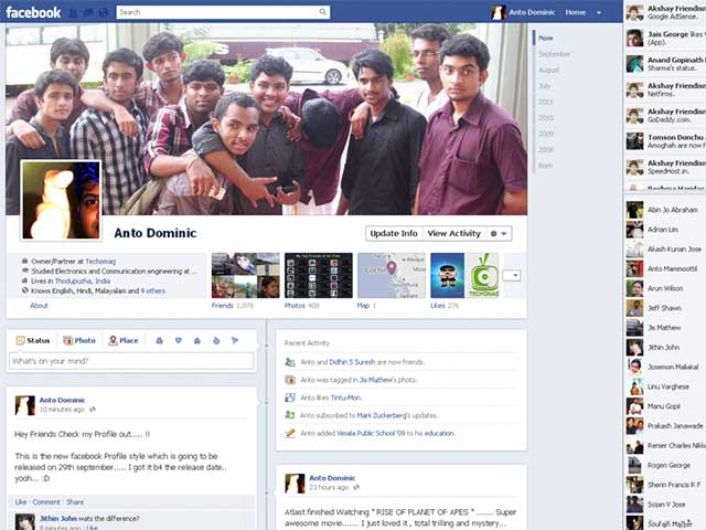 Tìm kiếm các bài đăng cũ trên dòng thời gian của Facebook