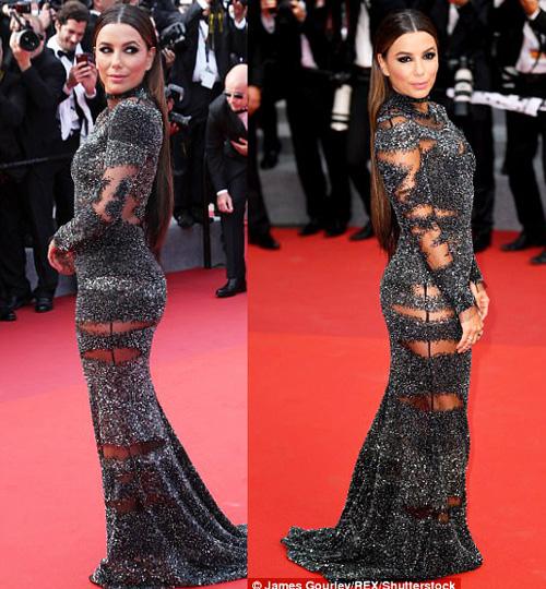 """Kiều nữ """"lộ liễu"""" ở Cannes vì mặc ngắn, mỏng như sương - 11"""