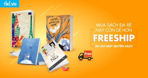 """Tiki.vn ra mắt chương trình """"Freeship dù chỉ một cuốn sách"""" - 1"""